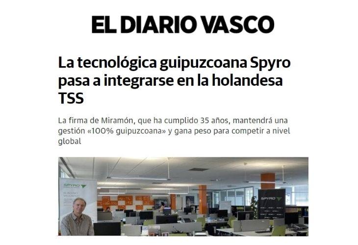 La tecnologica Spyro se integra en TSS – El Diario Vasco